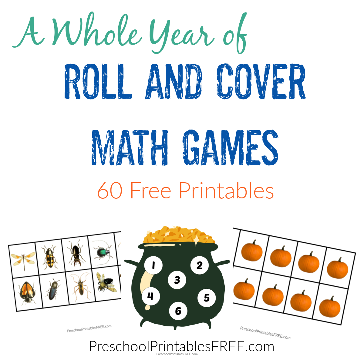 Roll and Cover Dice Games Printable