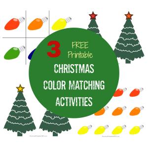 Christmas Color Matching Activities for Preschoolers